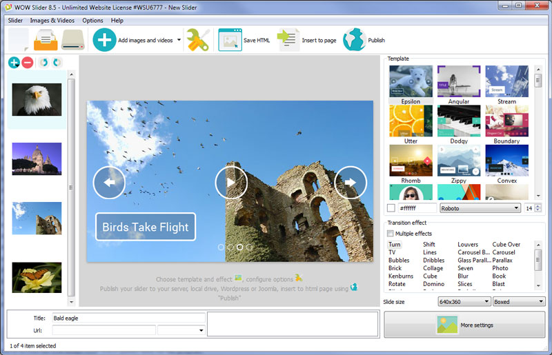 Windows 7 WOW jQuery Slider 8.5 full
